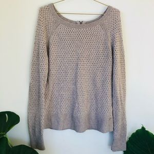 American Eagle M open knit pullover sweater